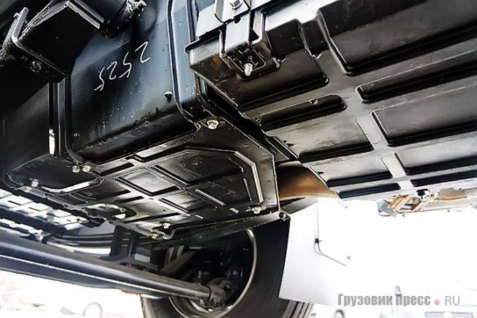 А это составная пластиковая защита двигателя и коробки передач. Боковины металлические