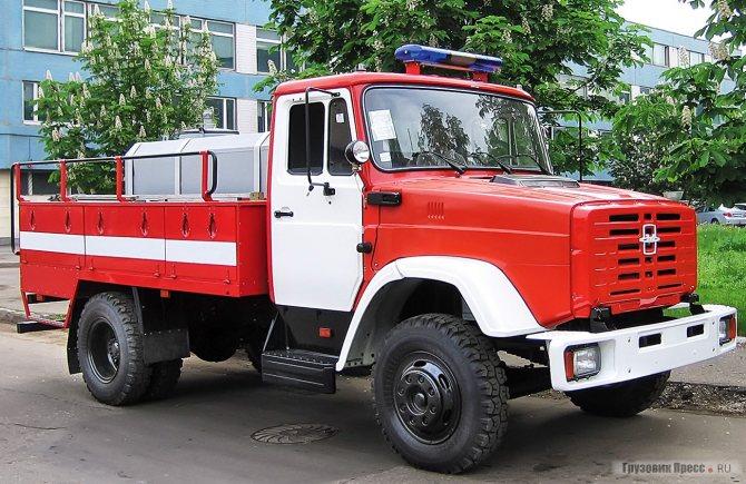 АЦ-3,2-40 (433362) мод. 012-MM – упрощённая пожарная автоцистерна на шасси ЗИЛ-433362 из последних разработок ЗИЛа