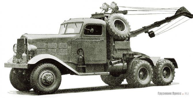 Аэродромный эвакуатор Biederman C-2 с 10-тонной стрелой. 1941 г.