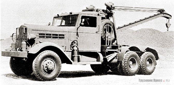 Аэродромный эвакуатор Federal 606 с 10-тонной стрелой. 1942 г.