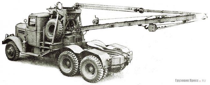 Аэродромный эвакуатор Federal 606E с телескопической 5-тонной стрелой. 1944 г.