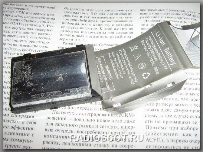 аккумулятор китайских телефонов