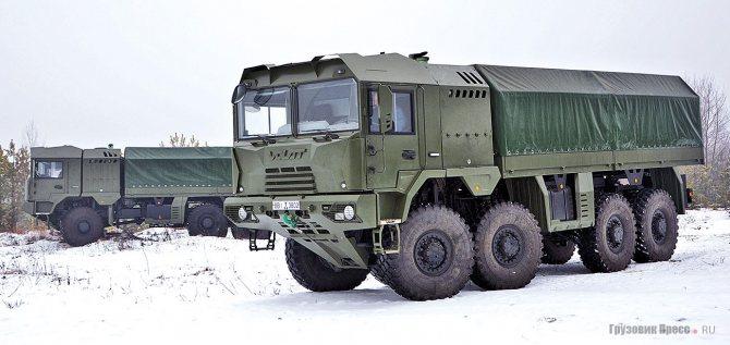 Армейские автомобили семейства «6001»: МЗКТ-600103 (6х6) и МЗКТ-600203 (8х8)