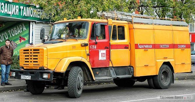 Аварийные машины службы газа выпускали на шасси ЗИЛ-433104-110 и ЗИЛ-4331114-10