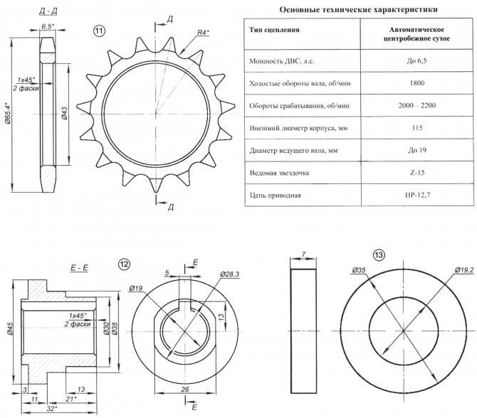 Автоматическое центробежное сухое сцепление