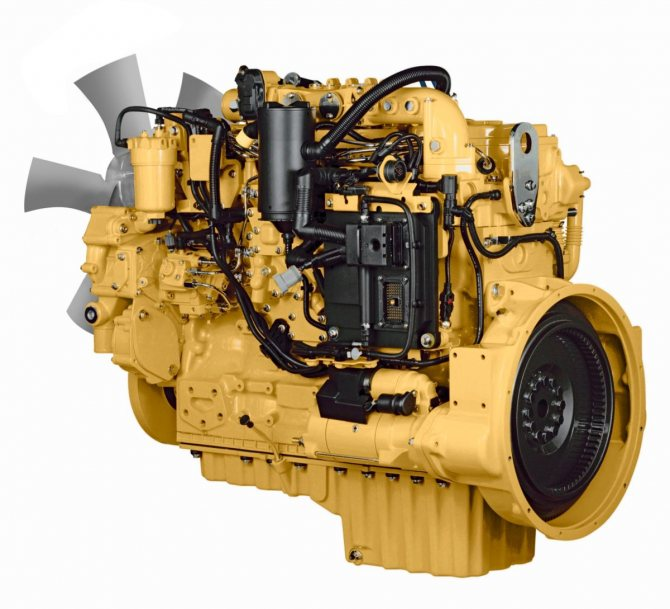 Бульдозер Caterpillar D6 двигатель
