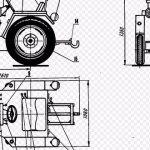 чертеж мини - трактора