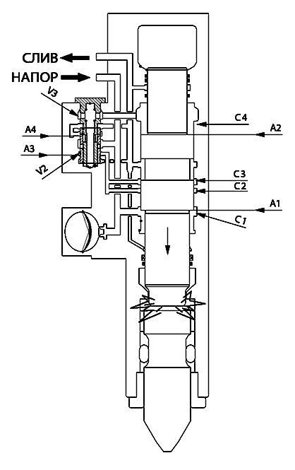 Чертеж типичной конструкции гидромолота