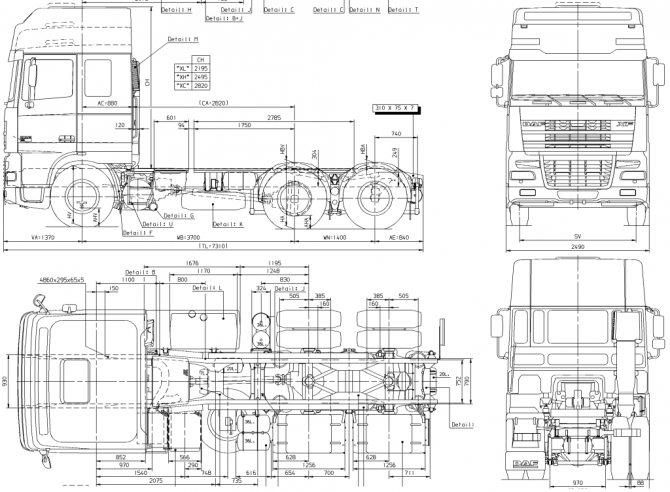 daf XF-95 технические характеристики