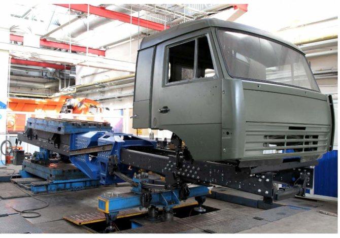 Динамические испытания несущей системы КАМАЗ-6345-3101
