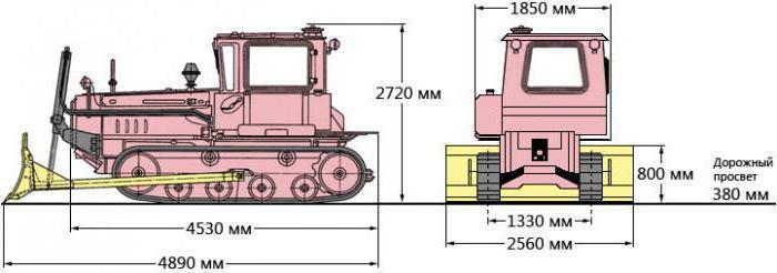 ДТ-75 габаритные размеры