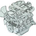 Двигатель 1DZ-2 вид спереди