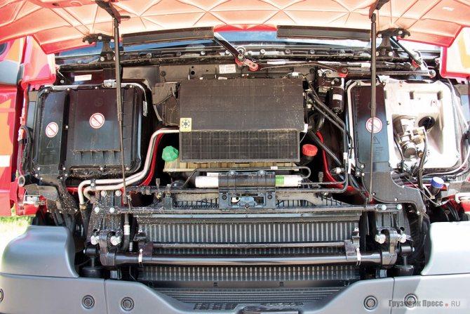 Двигатель D2676LF07 (под капотом)
