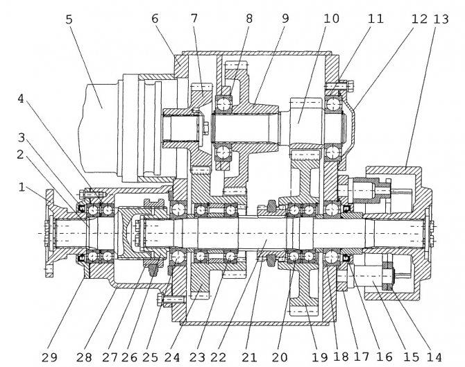 Экскаватор ЕК 18 коробка передач