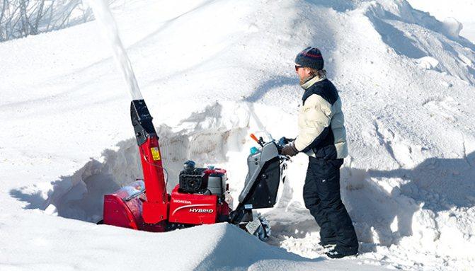 Эргономика и комфорт снегоуборщиков Honda