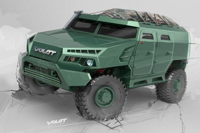Эскизный проект V-1 mzkt.by - Бронированный «Волат» | Warspot.ru