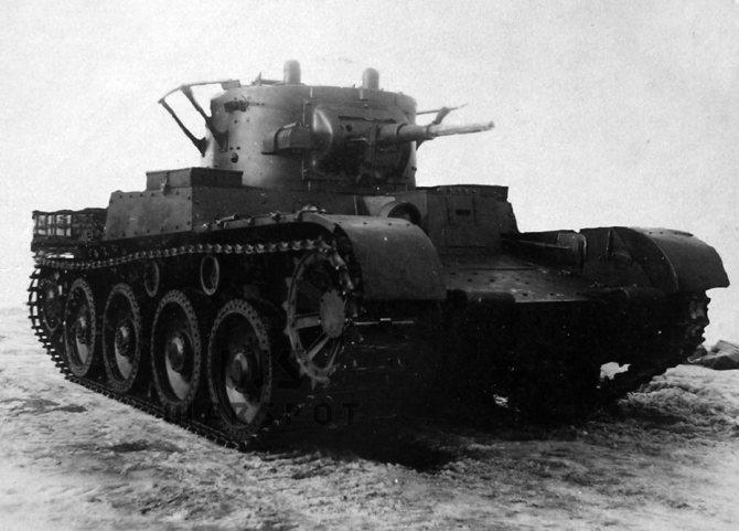 Эталонный образец Т-46-1, 1937 год. - Колёсно-гусеничный тупик   Warspot.ru