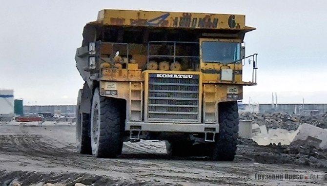 Этот самосвал работает в Кузбассе