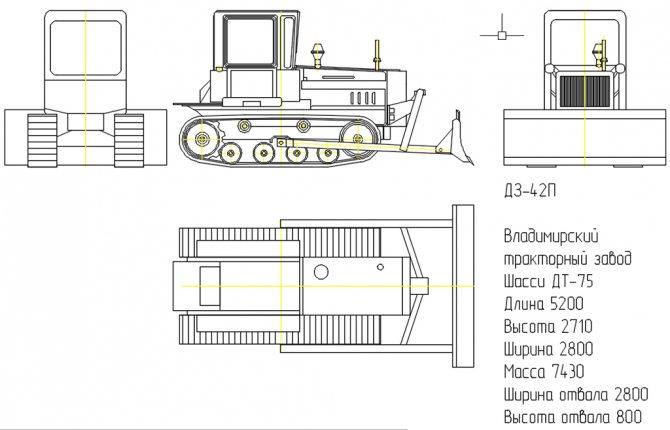 Габариты ДЗ-42