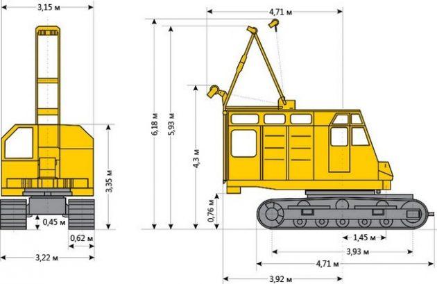 Габариты РДК-250