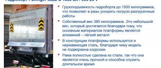 Гидроборт-подъемник Palfinger изотермического фургона KAMAZ 5325