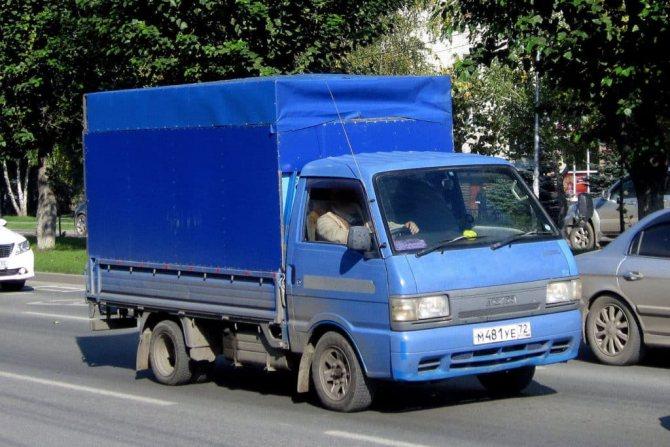 Грузовик Мазда Бонго синий