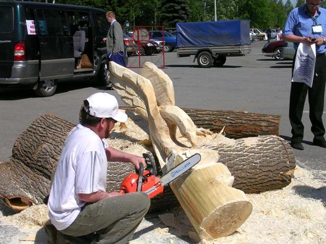 художественная резьба по дереву бензопилой