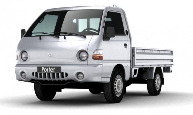 Hyundai Porter: вид спереди