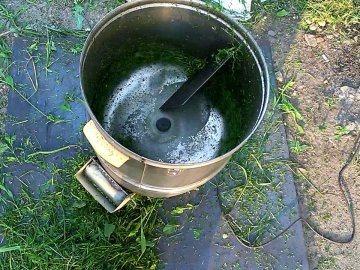 Измельчитель травы своими руками из стиральной машины