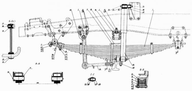 КамАЗ-65115 подвеска передняя