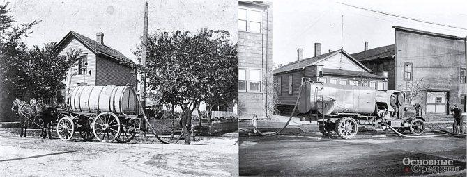 Каналопромывочная повозка, 1900 г.