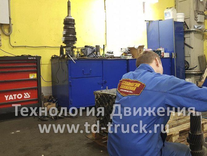 Капитальный ремонт КПП Mercedes Actros