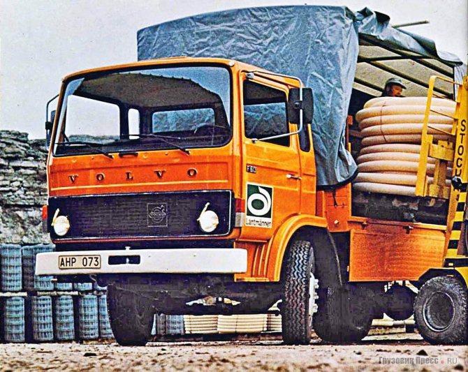 «Клубная» кабина на Volvo F613 (полная масса 13 т), 1976 г. На облицовке ещё не появилась знаменитая косая черта