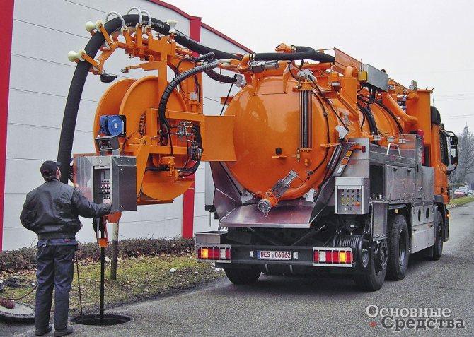 Комбинированная каналопромывочная машина KROLL