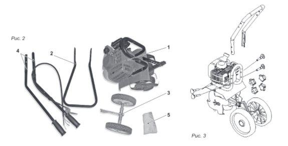 Конструкция мотокультиваторов Carver