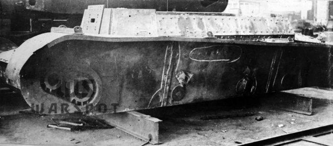 Корпус Т-46-3, лето 1937 года. Появление этой машины ещё больше задержало выпуск серийных Т-46-1. - Колёсно-гусеничный тупик   Warspot.ru
