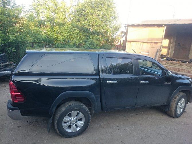 Кунг утилитарный на Toyota hilux 2015-
