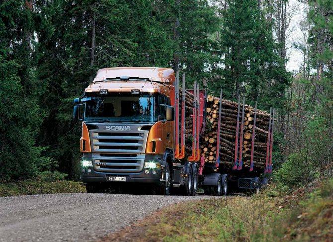 Лесовоз Скания R500