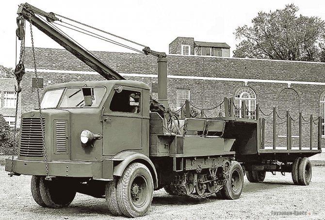 Linn C-5 Catruk по бездорожью мог передвигаться на полугусеничном ходу. 1944 г.