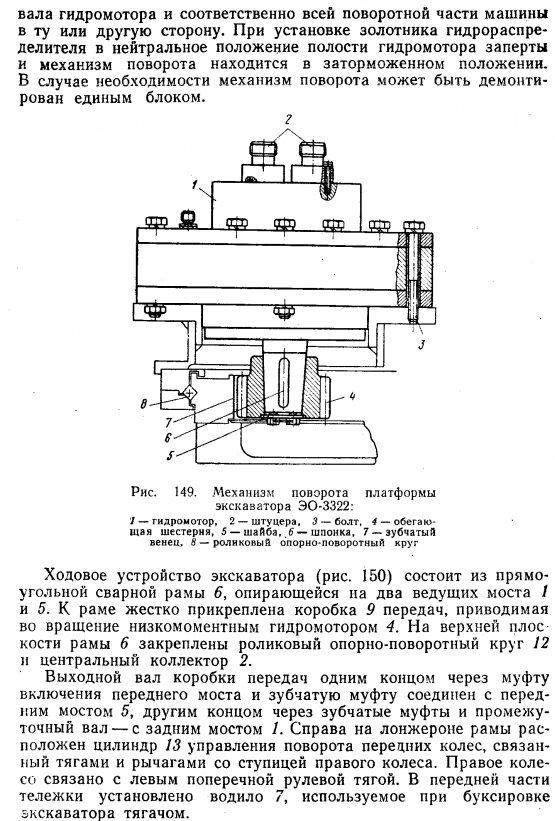 Механизм поворота платформы экскаватора ЭО-3322