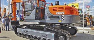 Модель Е280С с эксплуатационной массой 27,7 т
