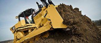 Мощность двигателя, установленного на бульдозере Caterpillar D8R, - 338 л.с.