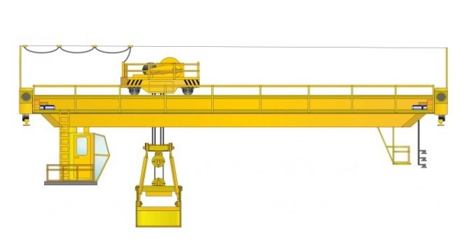 мостовой кран грейферный