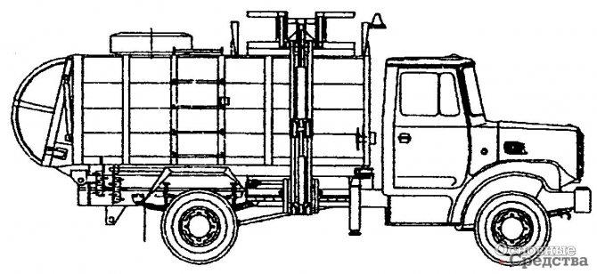 Мусоровоз МКМ-2