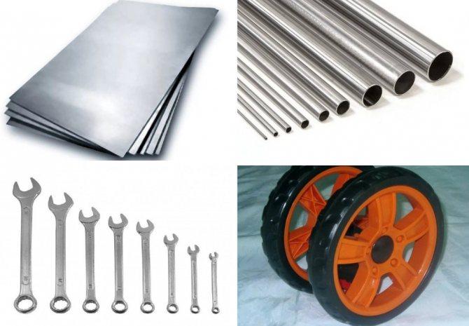Необходимые материалы и инструменты для сеялки