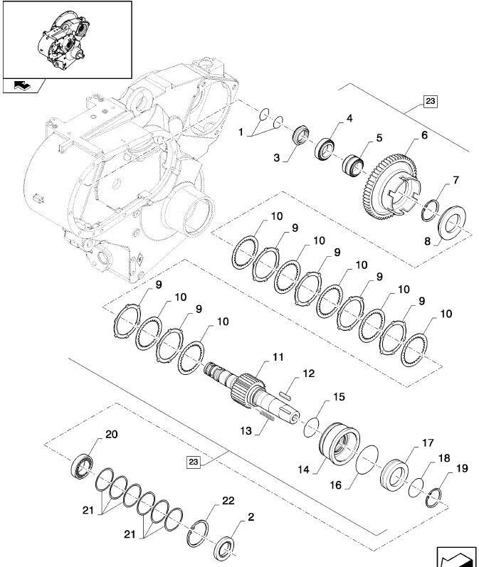 New Holland CX8080 КПП, фрикционы, подшипники, сальники, вал