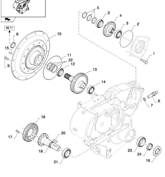 New Holland CX8080 привод двигатель-КПП