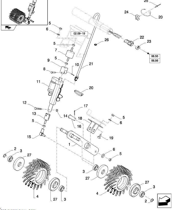 New Holland CX8080 щетки сита