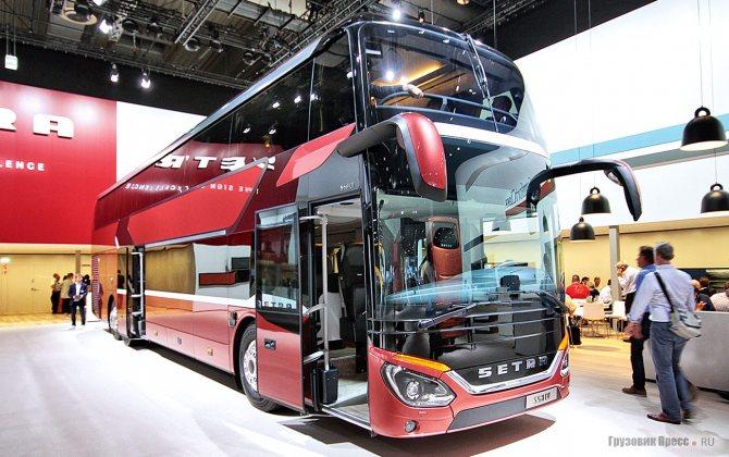 Новый двухэтажный автобус Setra S 531 DT на выставке IAA-2018 в Ганновере