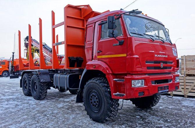 Новый лесовозный сортиментовоз с КМУ КАМАЗ-43118 в Красноярске